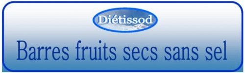 Barres fruits secs sans sel